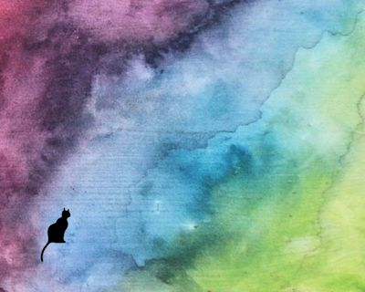 abstract cats, computer wallpaper artwork free